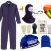 لباس کار- کلاه ایمنی با شیلد - دستکش ایمنی - عینک ایمنی -صداگیر داخل گوش -09125000923